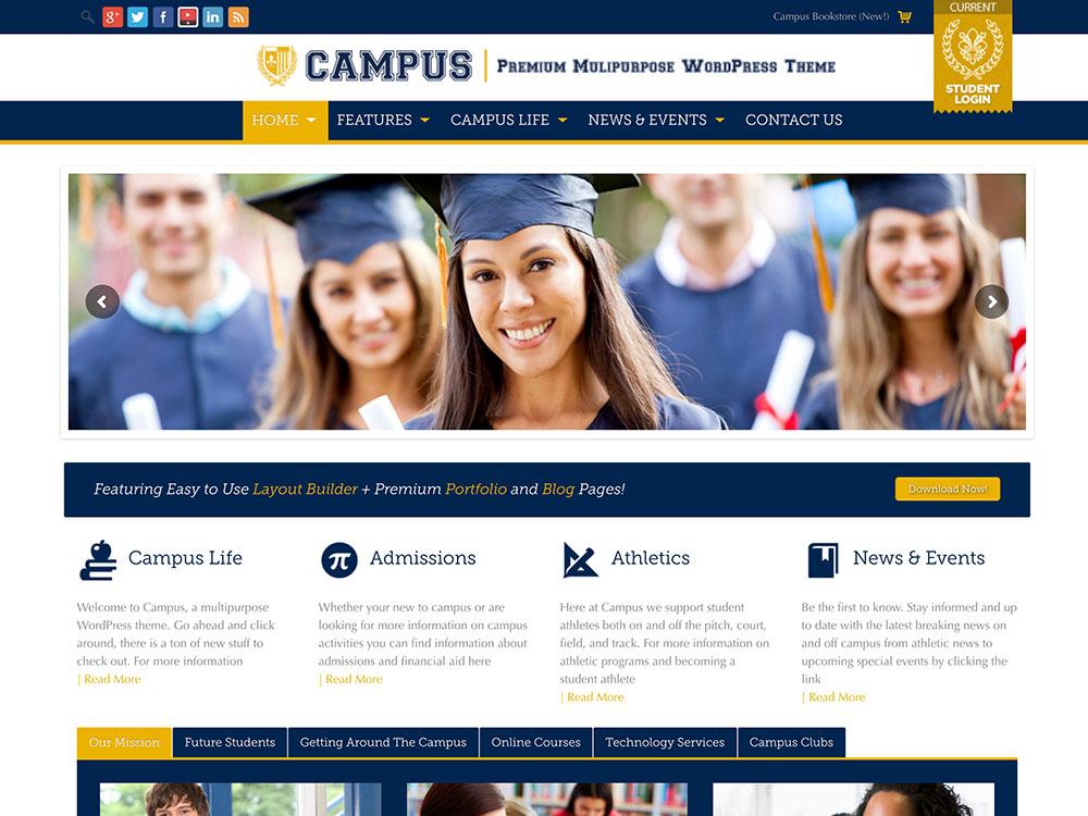 دانلود قالب آموزش و پرورش University آخرین ورژن برای وردپرس