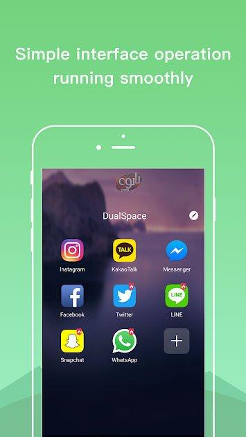 ساخت چند حساب کاربری شبکه اجتماعی بروی یک گوشی Dual Space - Multiple Accounts & Parallel APP